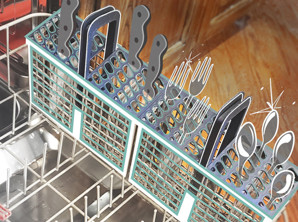 load dishwasher cutlery basket