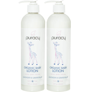 Puracy Organic Baby Lotion Lavender & Grapefruit