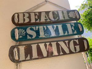 Woodensigns 3 pieces , Beach Style Living
