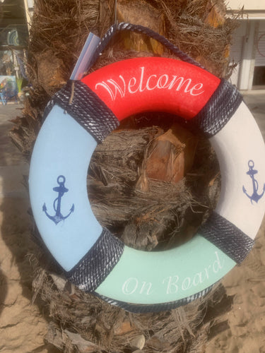 Buoy decoration Welcome on board
