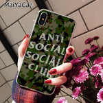 anti social social club TPU Silicone cover iphone
