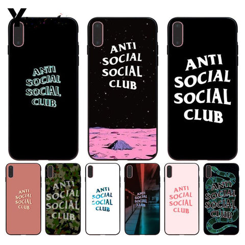 Anti Social Club Logo Brand cover iphone