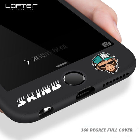 LOFTER 360 Degree Full Body Hard Cover Case For iPhone 6 6s Cute cartoon case for iphone 6 Hybrid Shockproof Case For iPhone 6s