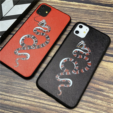 Luxury brand snake cover iphone