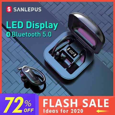 SANLEPUS LED Display Bluetooth Earphone 5.0 TWS Ios/Android