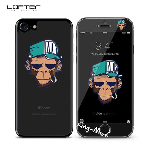 2pcs Cartoon Full cover iphone