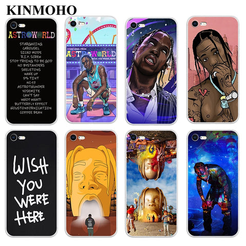 Kinmoho RapTravis Scott Cover iPhone For Coque iPhone XS MAX X XR 6s 8 7 6 Plus 5S SE