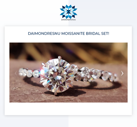 """Moissanite Bridal Set: The ultimate """"easy choice"""" when it comes to beauty and convenience"""