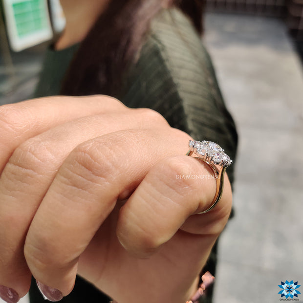 unique moissanite engagement rings - diamondrensu