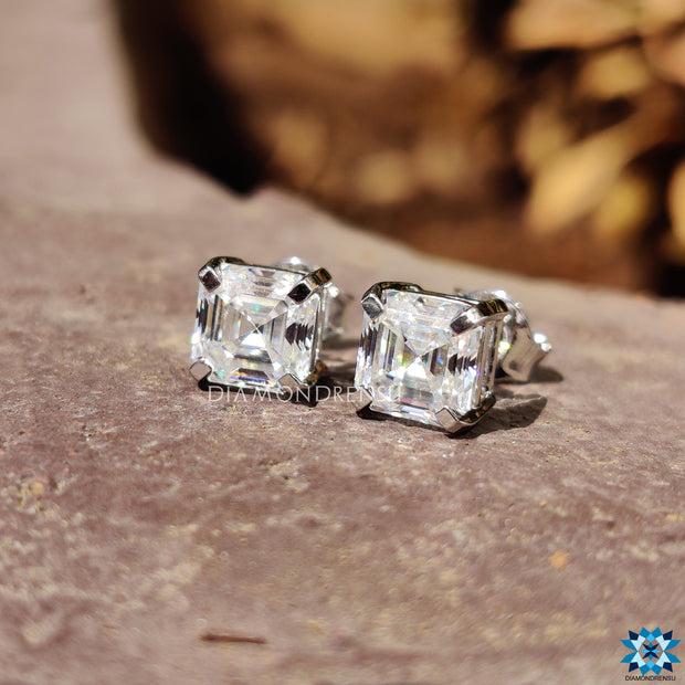 asscher cut moissanite - diamondrensu