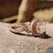 vintage halo engagement ring - diamondrensu