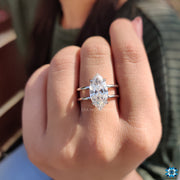 vintage moissanite engagement ring - diamondrensu