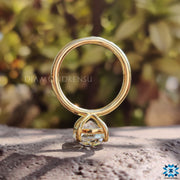 yellow gold engagement ring - diamondrensu