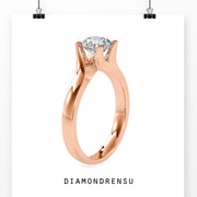 round solitaire engagement ring - diamondrensu
