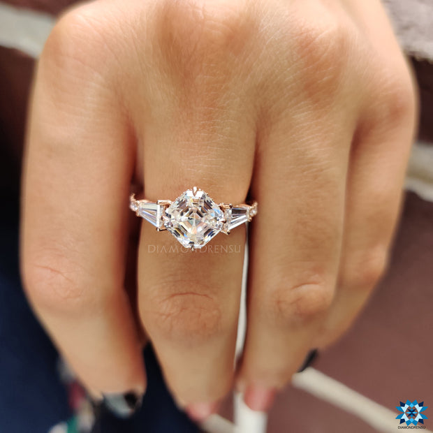 three stone engagement rings - diamondrensu