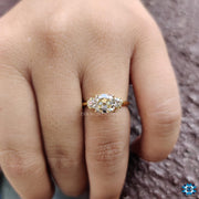Antique 1.66 DEW Cushion Old Mine Cut Vintage Style Moissanite Engagement Ring