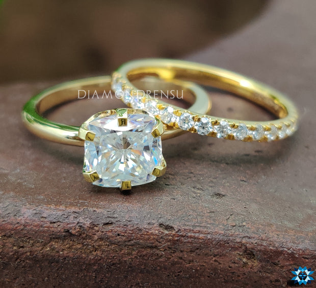 moissanite wedding ring set - diamondrensu