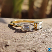 emerald cut moissanite ring - diamondrensu