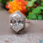 hexagon cut moissanite - diamondrensu