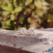 moissanite stud - diamondrensu