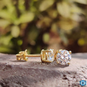 moissanite stud earrings - diamondrensu