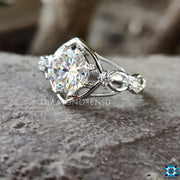 octagon cut moissanite ring - diamondrensu