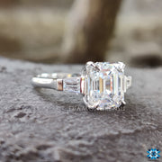 tapered baguette moissanite ring - diamondrensu