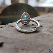 cathedral moissanite engagement ring - diamondrensu