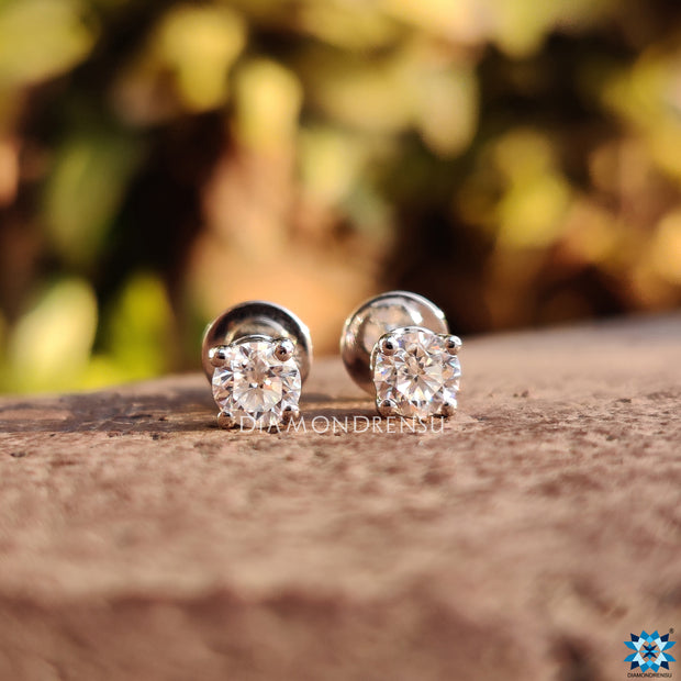 customized moissanite earrings