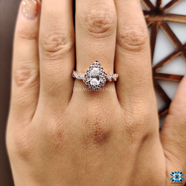 moissanite engagement ring - diamondrensu