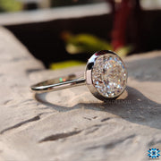 bezel setting moissanite ring - diamondrensu