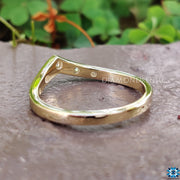 curved wedding band - diamondrensu