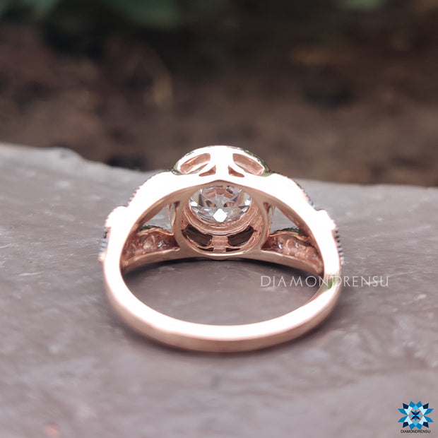 rose gold wedding pendant - diamondrensu