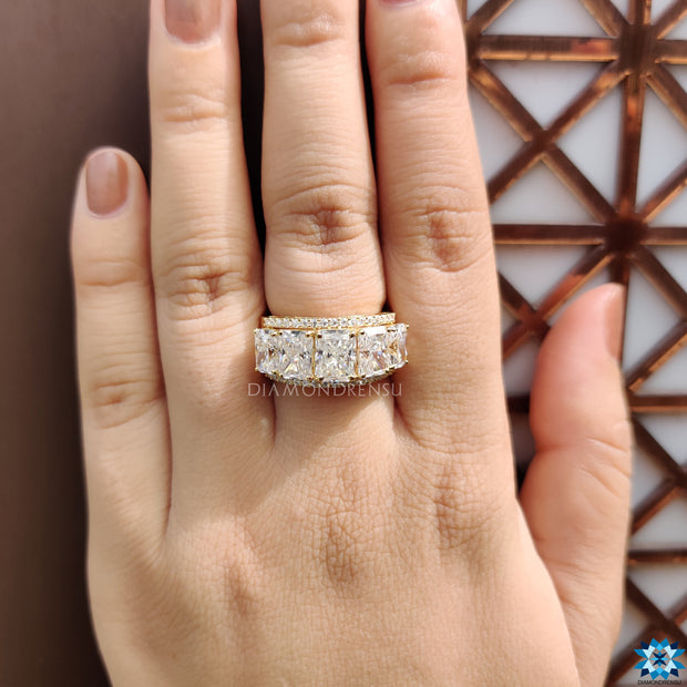 affordable moissanite engagement rings - diamondrensu
