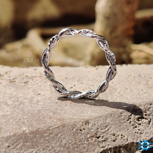 moissanite eternity band - diamondrensu