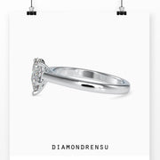 pear cut moissanite ring - diamondrensu