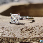custom moissanite ring - diamondrensu