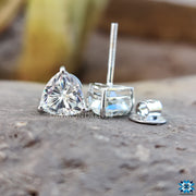 white gold earrings - diamondrensu