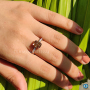 cushion divine engagement ring