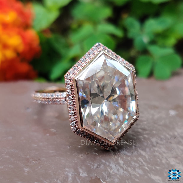 rose gold engagement rings - diamondrensu