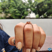 rose gold engagement ring - diamondrensu