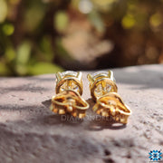 yellow gold earrings - diamondrensu