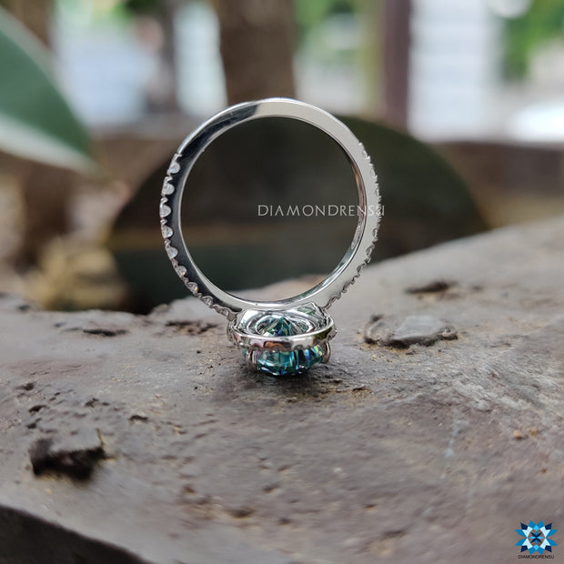custom moissanite engagement ring - diamondrensu