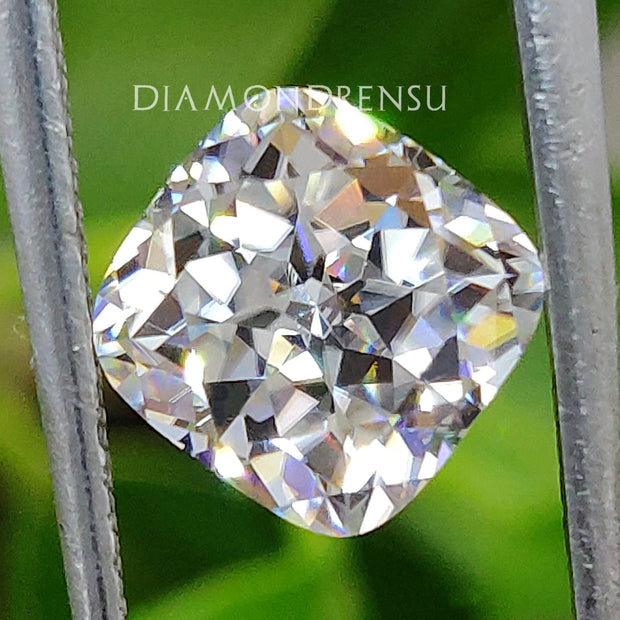 2.06 CT Cushion Rensu Cut Colorless Unique Loose Moissanite