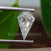 spear cut moissanite