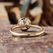 bezel set engagement ring - diamondrensu