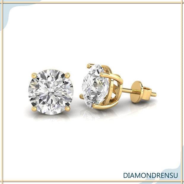 moissanite earrings screw back - diamondrensu