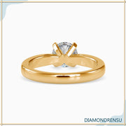 moissanite solitaire ring - diamondrensu