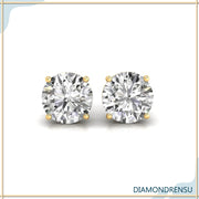 moissanite earrings - diamondrensu
