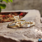 moissanite bridal ring sets - diamondrensu